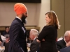 MPP Jagmeet Singh and Shelley White of United Way Peel