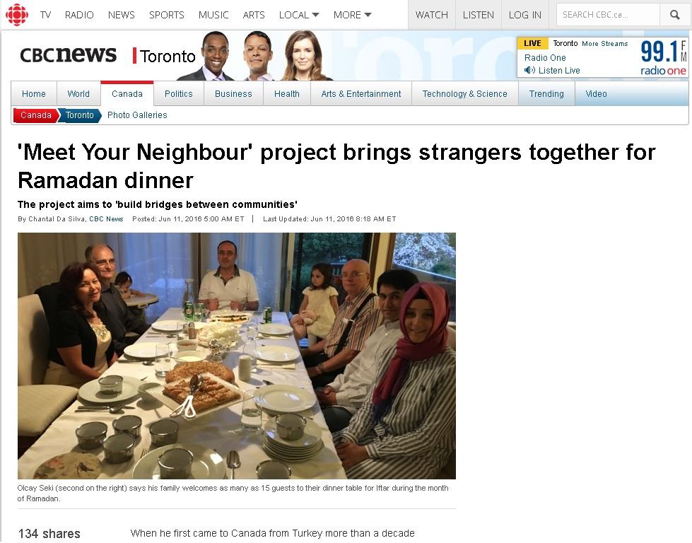 CBC Toronto - Meet Your Neigbhour