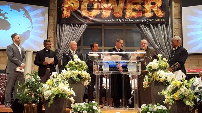 Multifaith Thanksgiving Celebration at Revivaltime Tabernacle Fr Tim MacDonald