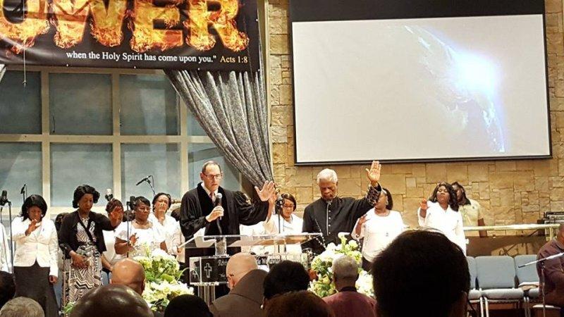 Multifaith Thanksgiving Celebration at Revivaltime Tabernacle Hurricane Relief Rabbi Morison Pastor James