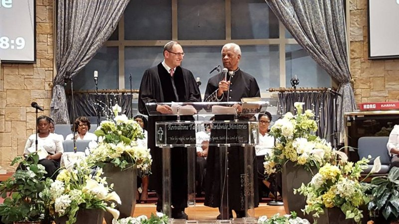 Multifaith Thanksgiving Celebration at Revivaltime Tabernacle- Rev Audley James and Rabbi Howard Morrison- Litany 2