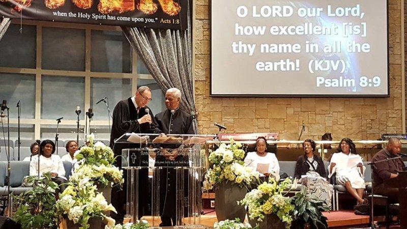 Multifaith Thanksgiving Celebration at Revivaltime Tabernacle- Rev Audley James and Rabbi Howard Morrison- Litany