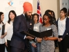 MPP Jagmeet Singh presents certificates to all finalists