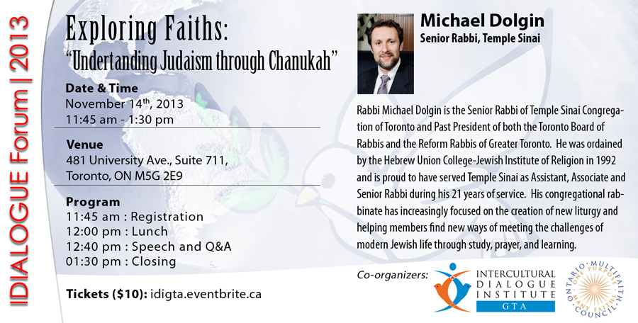 Understanding Judaism through Chanukah, Rabbi Dolgin