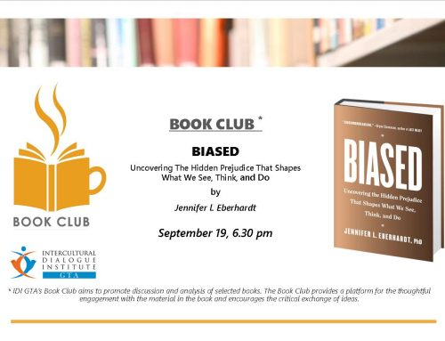 "Book Club: ""Biased: uncovering the hidden prejudice that shapes what we see, think, and do"" – Sept 19"