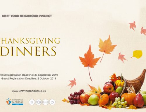 Meet Your Neighbour: Thanksgiving Dinners – October 13